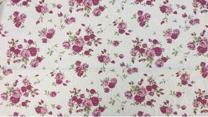 Σετ Βρεφικά Σεντόνια Floral Μωβ, 100% Βαμβακερός Χασές (Ελληνικής Ραφής)