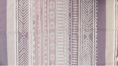 Σεντόνι Lines Λιλά Σομόν, 100% Βαμβακερός Χασές (Ελληνικής Ραφής)
