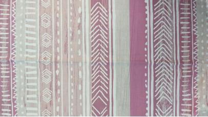 Σεντόνι Lines Ροζ - Σομόν, 100% Βαμβακερός Χασές (Ελληνικής Ραφής)