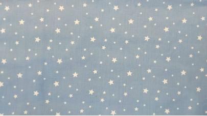 Σεντόνι Αστεράκια Γαλάζιο,100% Βαμβακερός Χασές, Μονό 1,50μ x 240μ (Ελληνικής Ραφής)