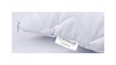 Μαξιλαροθήκες Προστασίας Καπιτονέ 45X65 Crystalize Περκάλι 180TC (Λευκές)