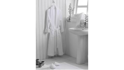 Μπουρνούζι με Γιακά Sunshine (Λευκό)