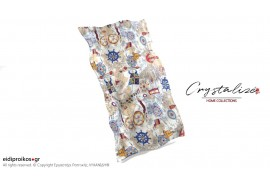 Σκέπασμα ξαπλώστρας θαλάσσης, από Καραβόπανο/Λονέτα Θαλάσσιος Χάρτης- Crystalize Home Collections
