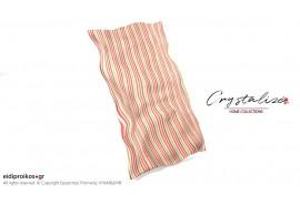 Σκέπασμα ξαπλώστρας θαλάσσης, από Καραβόπανο Ριγέ Καρπουζί  Crystalize Home Collections