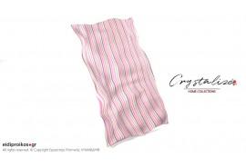 Σκέπασμα ξαπλώστρας θαλάσσης, από Καραβόπανο Ριγέ Λιλά  - Crystalize Home Collections