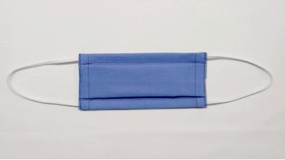 Μάσκα Προστασίας Πλενόμενη - Χασές Μπλέ 100% Cotton, Ελληνικής Ραφής