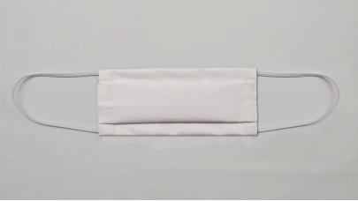 Μάσκα Προστασίας Πλενόμενη - Περκάλι Λευκό 180TC 48cotton/52polyester, Ελληνικής Ραφής