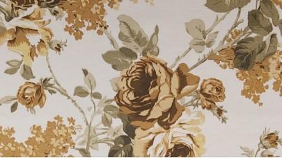 Καραβόπανο/Λονέτα Λουλούδια Μπεζ & Βεραμάν