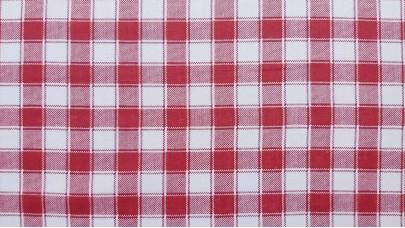 Χασές Καρό Κόκκινο-Άσπρο 2cmX2cm (1,40m Φάρδος)