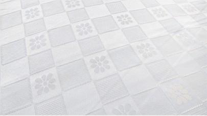 Καρέ Τραπεζομάντηλο Λευκό 70cmX70cm, Πολυεστερικό, DS/02/K7070