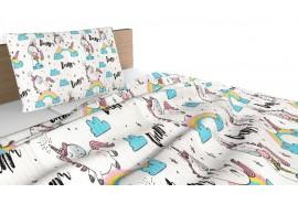 Κάλυμμα/Ριχτάρι Κρεβατιού με ή χωρίς Μαξιλαροθήκες 160x 250 Unicorn Dream