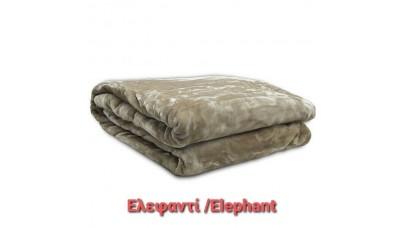 Κουβέρτα Βελούδινη Ελεφαντί
