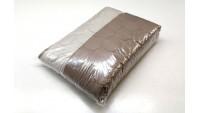 Κουβερλί Καπιτονέ από Μικροΐνες Καφέ & Μπέζ - 1,60μ Χ 2,30μ