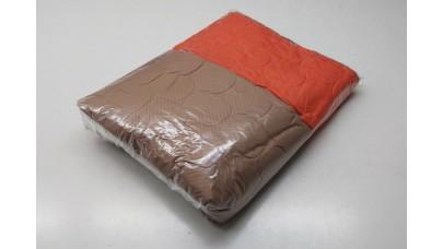 Κουβερλί Καπιτονέ από Μικροΐνες Καφέ & Πορτοκαλί - 1,60μ Χ 2,30μ