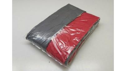 Κουβερλί Καπιτονέ από Μικροΐνες Κόκκινο & Σκούρο Γκρί