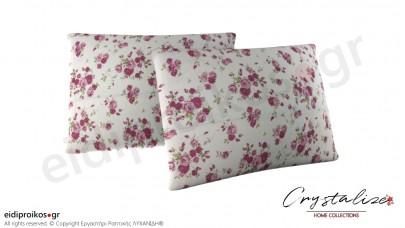 Μαξιλαροθήκη Ύπνου Floral Μωβ 50x70 - Crystalize Home Collections