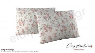 Μαξιλαροθήκη Ύπνου Floral Σομόν 50x70 - Crystalize Home Collections