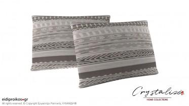 Μαξιλαροθήκη Ύπνου Grey Lines 50x70 - Crystalize Home Collections