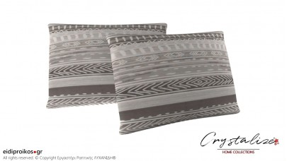 Μαξιλαροθήκη Ύπνου Grey Lines 50x70 - Crystalize Home Collections