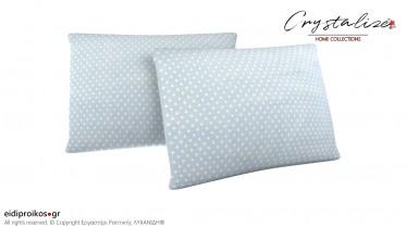 Μαξιλαροθήκη Ύπνου Πουά Γαλάζιο 50x70 - Crystalize Home Collections