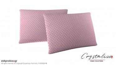 Μαξιλαροθήκη Ύπνου Πουά Ροζ 50x70 - Crystalize Home Collections