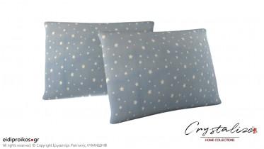 Μαξιλαροθήκη Ύπνου Αστέρια Γαλάζιο 50x70 - Crystalize Home Collections
