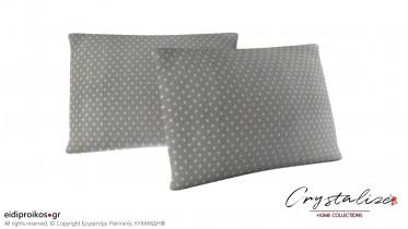 Μαξιλαροθήκη Ύπνου Πουά Γκρί 50x70 - Crystalize Home Collections