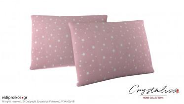 Μαξιλαροθήκη Ύπνου Αστέρια Ροζ 50x70 - Crystalize Home Collections