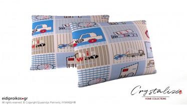 Μαξιλαροθήκη Ύπνου Παιδικό Γαλάζιο 50x70 - Crystalize Home Collections