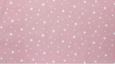 Σεντόνι Αστεράκια Ροζ,100% Βαμβακερός Χασές (Ελληνικής Ραφής)